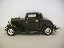 Collectible 1:24 Scale BLACK 1932 FORD CUPE #68067 Diecast Car By Motormax