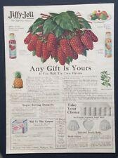 Waukesha Wisconsin Jiffy Jell Jello Gelatin Loganberry Art 1918 Vtg Print Ad