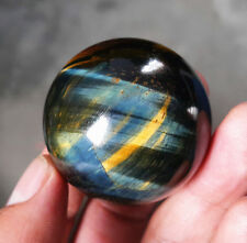Hot 105 G 42 Mm Natural Tiger eye Crystal Sphere Ball Hyq329