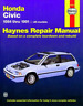 Haynes Workshop Manual Honda Civic 1984-1991 CRX Wagon Service & Repair