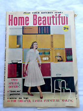 Australian Home Beautiful September 1956 Vintage Design Reference LAYBY