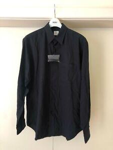 YOHJI YAMAMOTO COSTUME D'HOMME BLACK SHIRT YYPH