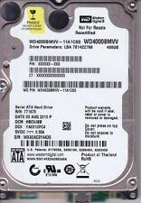 WD4000BMVV-11A1CS0 dcm: HBCVJBB s/n: WXA0A 400GB USB 2.0 A24-13