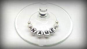 Personalised Name Wine Glass Charms Birthdays Weddings Hen Parties Christmas