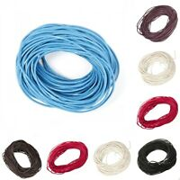 10M or 100M Genuine Real Leather Round Thong Cord - 1mm 1.5mm 2mm 3mm 4mm