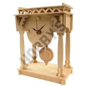 Bracket Clock: Wood Craft Assembly Wooden Construction Clock Kit