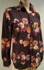 PS PAUL SMITH Menswear 100% Cotton Brown & Multicolour Floral Print Casual Shirt