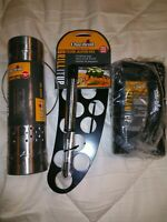 CHAR-BROIL 3 PIECE GRILLING KIT-SMOKER TUBE FOLDING JALAPENO RACK & SCRUB BRUSH
