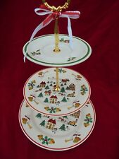 Joy of Christmas Party Cake Stand 3 Tier Serving Tray