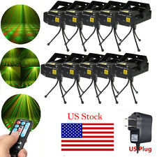 10X Mini R&G Laser Stage Lighting Xmas DJ Disco Party Club w/Remote Controller
