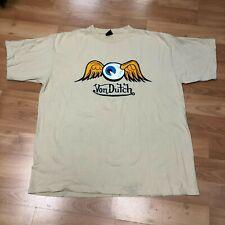 VON DUTCH Logo T Shirt Size 2XL Great Condition