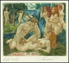 David Bekker 2001 Exlibris C4 Erotic Erotik Nude Nudo Sex Woman 762