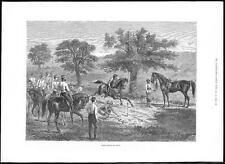 1885 LIME taglio India CAVALLERIA CAVALLI gioco spade (091)