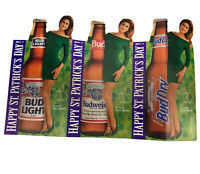 KATHY IRELAND St. Pat's Day Bud Light Advertising Table Top Tent Standee M- 1994