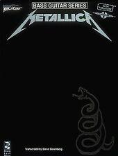 Metallica Bass Guitar Tablature Notation Songbook Rock Sheet Music Book S132