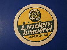 Vintage Beer Bar Coaster *~* Lindenbrauerei Mindelheim Bier ~*~ Bavaria, GERMANY