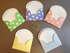 5 HAPPY SPRINGTIME NOTE CARDS AND ENVELOPES.  DIE CUTS, OCCASIONS, GIFTS.