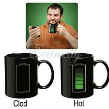 Color-Changing Mug Magic Battery Coffee Heat Cold/Hot Temperature Sensitive Cup