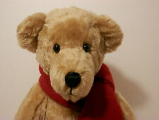 Bears by Althea Leistikow, Blonde bear with red wool scarf ~ 1988 Prototype