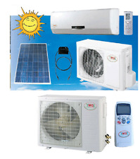 SOLAR POWERED 12000 BTU Ductless Split Air Conditioner Cool & Heat SEER Up to 28