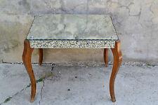 Magnifique table basse en bois et miroir biseauté - ART DECO
