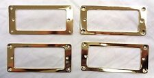 4 x Gold Mini Flat Humbucker Rings