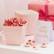 LATE NIGHT SNACK BAR MIDNIGHT FEAST KIT Pamper Party 8 Popcorn Boxes 1 Tent Card