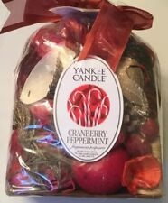 YANKEE CANDLE Dry Potpourri CRANBERRY PEPPERMINT SCENT 10 oz Bag CHRISTMAS New