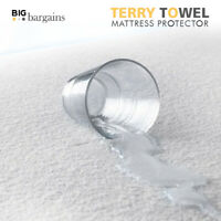 WaterProof Terry Towel Mattress Bed Protector Topper Fitted Sheet In All Sizes