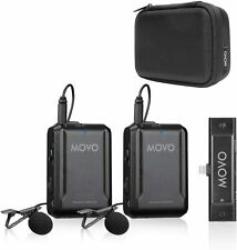 Movo EDGE-DI-DUO Wireless Lavalier Microphone System for iPhone, Lightning, iOS