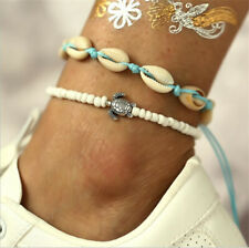 New Boho Beach Sea Shell Turtles Bead Chain Anklet Barefoot Sandals Foot Jewelry