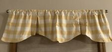 Country Curtains Yellow Buffalo Check Lined Farmhouse Plaid Pleated Valance