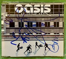 More details for oasis autographed signed go let it out cd single sleeve - noel & liam gallagher