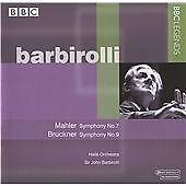 """CD x 2 BBC LEGENDS BBCL 4034-2 Mahler """"Symphony No.7"""" + Bruckner 9 - Barbirolli"""