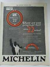 1931 Michelin Tire Co Balloon Man Milltown New Jersey extra 22 inches vintage ad