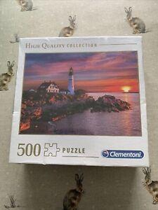 Clementoni 500 Piece Jigsaw Puzzle Portland Head Light  New & Sealed