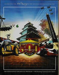 Indianapolis 500 Program - 90th 500 May 28, 2006