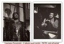 Luciano Pavarotti - 2 photo post cards - NEW, out-of-print - San Francisco Opera