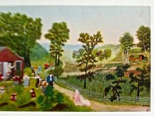 Grandma Moses  Mary and the Little Lamb 20X14 Offset Lithograph Reprint