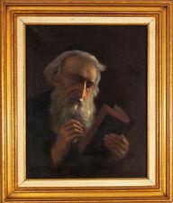 Konstantin Szewczenko (Polish,1915-1991) Original Oil Painting Judaica Rabbi
