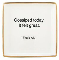 """Gossiped Today - That's All Ceramic Trinket Jewelry Ring Accessory Tray, 4.5"""""""