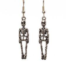 Esqueleto Colgantes Pendientes de Plata fantasma Gótica Disfraz De Halloween médico medicina