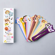 30Pcs Animal Paper Bookmarks Book Holder School Supply Stationery Kid Gift New