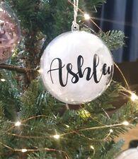 personalised christmas bauble Christmas eve secert santa custom name