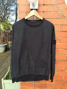 Stone Island Ghost Cotton Nylon Tela Sweatshirt Large