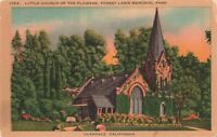 Postcard Little Church of the Flowers Glendale California