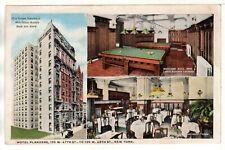 HOTEL FLANDERS New York BILLIARD ROOM Lounge Circa 1920 Vintage Photo Postcard