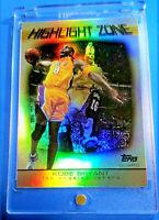 Kobe Bryant Topps Highlight Zone Rare Foil Insert Lakers  Mint  w/ Case