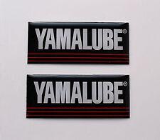 YAMALUBE Adesivi / Decalcomanie 40MM X 16MM ALTA LUCENTEZZA GEL FINITURA MOTO / Motorsport
