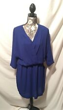 Greylin Women's Dark Purple Blouse Dress Long Sleeve NWT Size Large L New